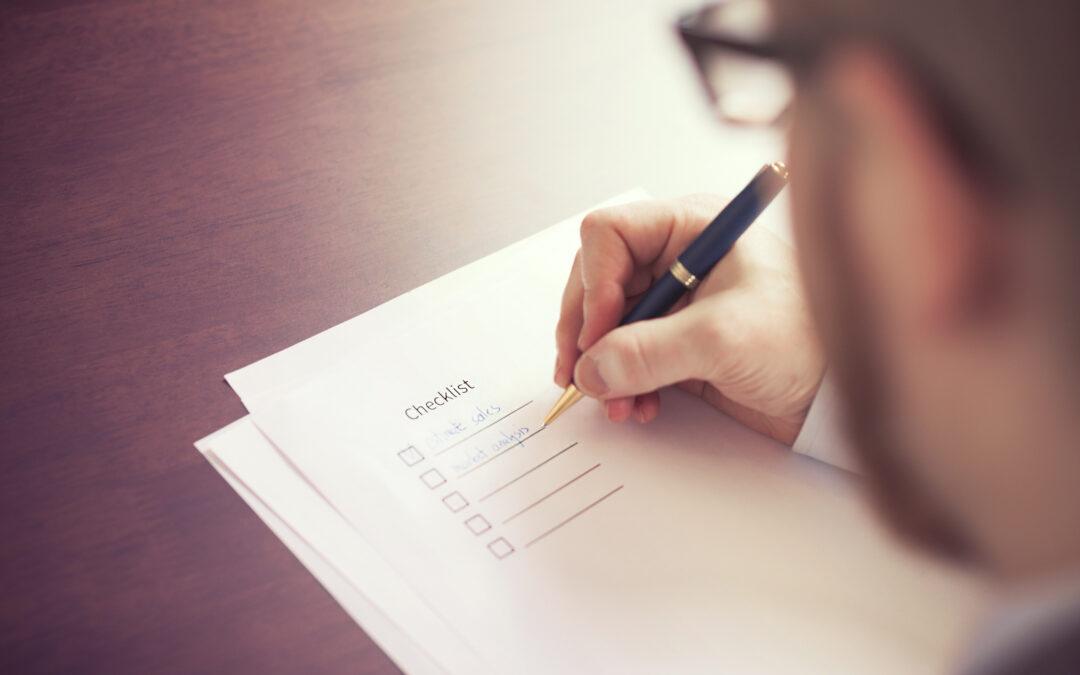 Checklista när någon har dött